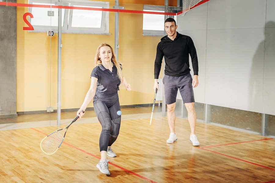 Sporten squash met sportbuddy motivatie